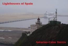 Lighouses Of Spain - Asturias/Cabo Torres Postcard Collector - Faros