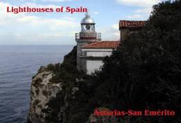 Lighouses Of Spain - Asturias/San Emérito Postcard Collector - Faros