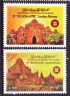 Myanmar 2012  TELSOM-ATRC 2v Mint MHN - Myanmar (Burma 1948-...)