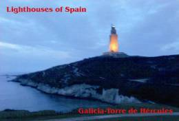 Lighouses Of Spain - Galicia/Torre De Hércules Postcard Collector - Faros