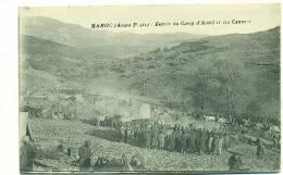 MAROC/ (avant-poste), Entrée Du Camp D'Amhl (?) Et Les Convois (MILITAIRE) - Maroc