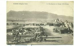 MAROC/ Un Convoi Au Camp D'El-Goran (MILITAIRE) - Maroc
