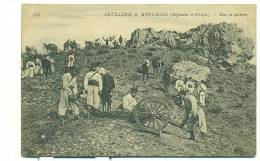 MAROC/ Artillerie De Montagne (régiment D'Afrique) Mise En Batterie (MILITAIRE) - Maroc