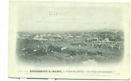 MAROC/ CASABLANCA, Le Camp Des Goumiers (MILITAIRE/PUB Pougues Saint Léger, Eau De Régime)) - Casablanca