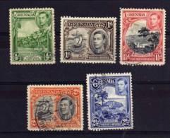Grenada - 1938 - George VI Definitives (Perf 12½, Part Set) - Used - Grenade (...-1974)