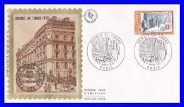 2037 (Yvert) Sur Enveloppe Premier Jour Illustrée Sur Soie - Journée Du Timbre - France 1979 - 1970-1979