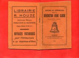 PRIERES ET CEREMONIES POUR LA BENEDICTION D UNE CLOCHE 1937 LIBRAIRIE HOUZE A ORLEANS - Religion