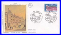 2045 (Yvert) Sur Enveloppe Premier Jour Illustrée Sur Soie - Abbaye De Saint-Germain Des Prés - France 1979 - FDC