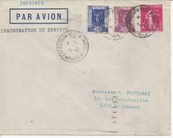 PARIS -  1937  -  INAUGURATION DU SERVICE PAR AVION ,  PARIS - LYON  - - 1921-1960: Modern Period