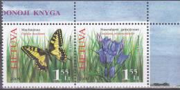 Litouwen 2009 Postfris MNH Butterflies, Flowers - Lituania