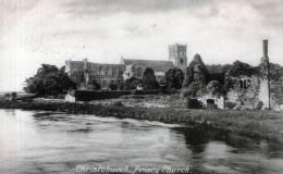 "Beatiful Old Post Card   ""   Christchurch, Priory  Church.   "" - Christmas Island"