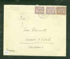 NEDERLANDS-INDIE * BRIEFOMSLAG Uit 1929 Van PEMATANG SIANTAR MEDAN Naar ZURICH ZWITSERLAND (6303) - Nederlands-Indië