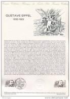 Document Philatélique Officiel De La Poste - Gustave Eiffel - 18-12-1982 - Postdokumente