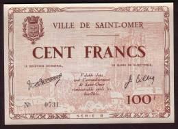Chambre Commerce - SAINT OMER - 100 Francs De Juin 1940 - Chamber Of Commerce