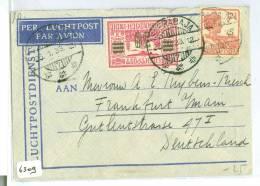 LUCHTPOST * AVION *  NEDERLANDS INDIE * BRIEFOMSLAG Uit 1933 Van SOERABAJA Naar FRANKFURT DUITSLAND  (6309) - Niederländisch-Indien