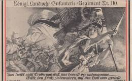DR Propagandakarte 1.WK. Königl.Landwehr-Infantrie -Regiment Nr.110 Gelaufen Ansehen !!!!!!!! - Deutschland