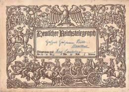 DR Schmucktelegramm Zur Hochzeit Vom 14.10.27 Von Bad Lauterberg Nach Clausthal - Briefe U. Dokumente