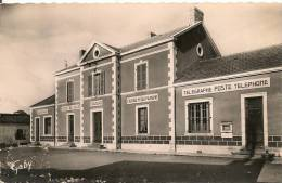 Cpsm85 Foussais La Poste, Hotel De Ville - Andere Gemeenten
