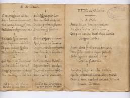 PARTITION ANCIENNE CHANT GREGORIEN  / NOMBREUX COUPLETS EN LATIN /FETE DE ST LEON /  CACHET MAITRISE DE LA CATHEDRALE - Choral