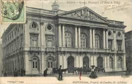 CPA /PORTUGAL - LISBOA - CAMORA MUNICIPAL -  (cachets Intéressants Au Dos ) - Lisboa