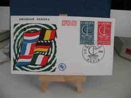 FDC - EUROPA  CEPT - Paris - 24.9.1966 Coté 2 € (2013) - Europa-CEPT