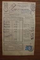 Document PTT Bordereau Valeur à Recouvrer>Alès Gard 3/8/1933 +TT N° 60 Recouvrement Taxe à Percevoir 1fr Usage Tardif - Documentos Del Correo