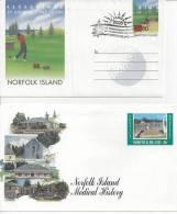 NORFOLK -   AEROGRAMME   +  TRES  JOLIE  ENVELOPPE  -  TB  - - Ile Norfolk