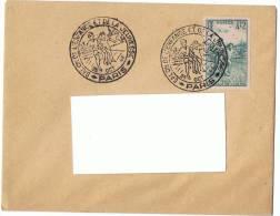 25/10/1946 - Enveloppe Lettre - Salon De L´enfance Et De La Jeunesse  - Pour Elbeuf - Yvert & Tellier N°740 - Marcophilie (Lettres)