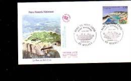 Enveloppe Premier Jour 1er Fdc Parcs Naturels De Port Cros 1997 Hieres - 1990-1999