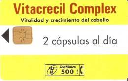 P-188 TARJETA DE ESPAÑA VITACRECIL COMPLEX DE TIRADA 19000 Y FECHA 3/96 - Spagna