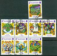Guernsey  1986  Weihnachten - Weihnachtslieder  (8 Gest. (used))  Mi: 375, 377-83 (3,20 EUR) - Guernesey