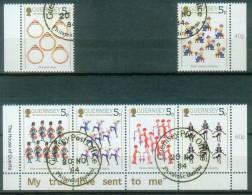 Guernsey  1984  Weihnachten - Die Zwölf Weihnachtstage  (6 Gest. (used))  Mi: 302, 305-9 (1,80 EUR) - Guernesey