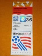 Argentina-Bulgaria Fifa World Cup USA 1994 Football Match Ticket 36 - Match Tickets
