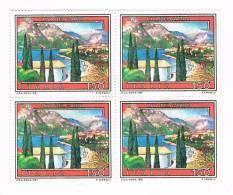 ITALIA 1981 - USATO - RIVA DEL GARDA  -  VALORE DA LIRE 150 - QUARTINA - 6. 1946-.. Repubblica