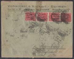 DR Brief Mif Minr.20x 161,10x 183,,4x 206 Barmen 24.1.23 - Allemagne
