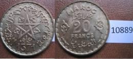 Marruecos 20 Francos 1371 / 1952 DC - Monedas
