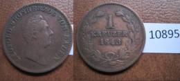 Alemania , Estado De Baden  1 Kreutzer 1843 - Monedas