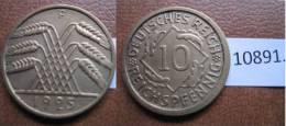 Alemania , Republica Weimar,   10 Reichspfennig 1925 F - Monedas