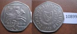 Chipre 50 Centimos 1993 - Monedas