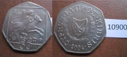 Chipre 50 Centimos 2004 - Monedas