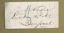 PRECURSEUR XIXe ..Fragment De Lettre 10 Juin 1828 ...70 CHALONS SUR SAONE - Marcophilie (Lettres)