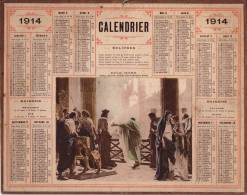 ALMANACH DES POSTES ET TELEGRAPHES 1914 - ECCE HOMO - TABLEAU D'ANTONIO CISERI. - Calendars