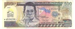 PHILIPPINES 500 Peso 45th Annual Meeting ADB  - 2012 - Philippines