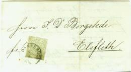 1871 Drucksache Aus OSNABRÜCK (Hellern) Reichspostvorläufer Nach Elsfleth Sehr Schöner Kalligraph. - Norddeutscher Postbezirk