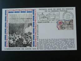 Lettre FDC Révolution Française  Arrestation De Louis 16 Varennes En Argonne Meuse - Révolution Française