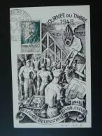 Journée Du Timbre Sidi-Bel-Abbes Algérie 1948 Légion Etrangère  Carte Maximum Card - Algeria (1924-1962)