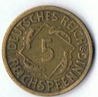 5    Reichspfennig    1936 - [ 4] 1933-1945 : Troisième Reich