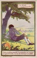 SALZEDO Maggie */ Fables De Lafontaine / Le Gland Et La Citrouille / Verso Publicité Ricqlès - Illustrateurs & Photographes