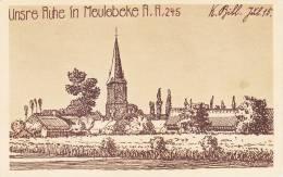 Meulebeke Unsre  Ruhe  R.I.R. 245 Duitse Pentekening  Feldpost - Meulebeke