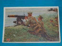 Militaire ) Bon Point Patiotiques - 1914/1915 - N° J.2  - Mitrailleuse Anglaise   - EDIT - Verger - Vieux Papiers
